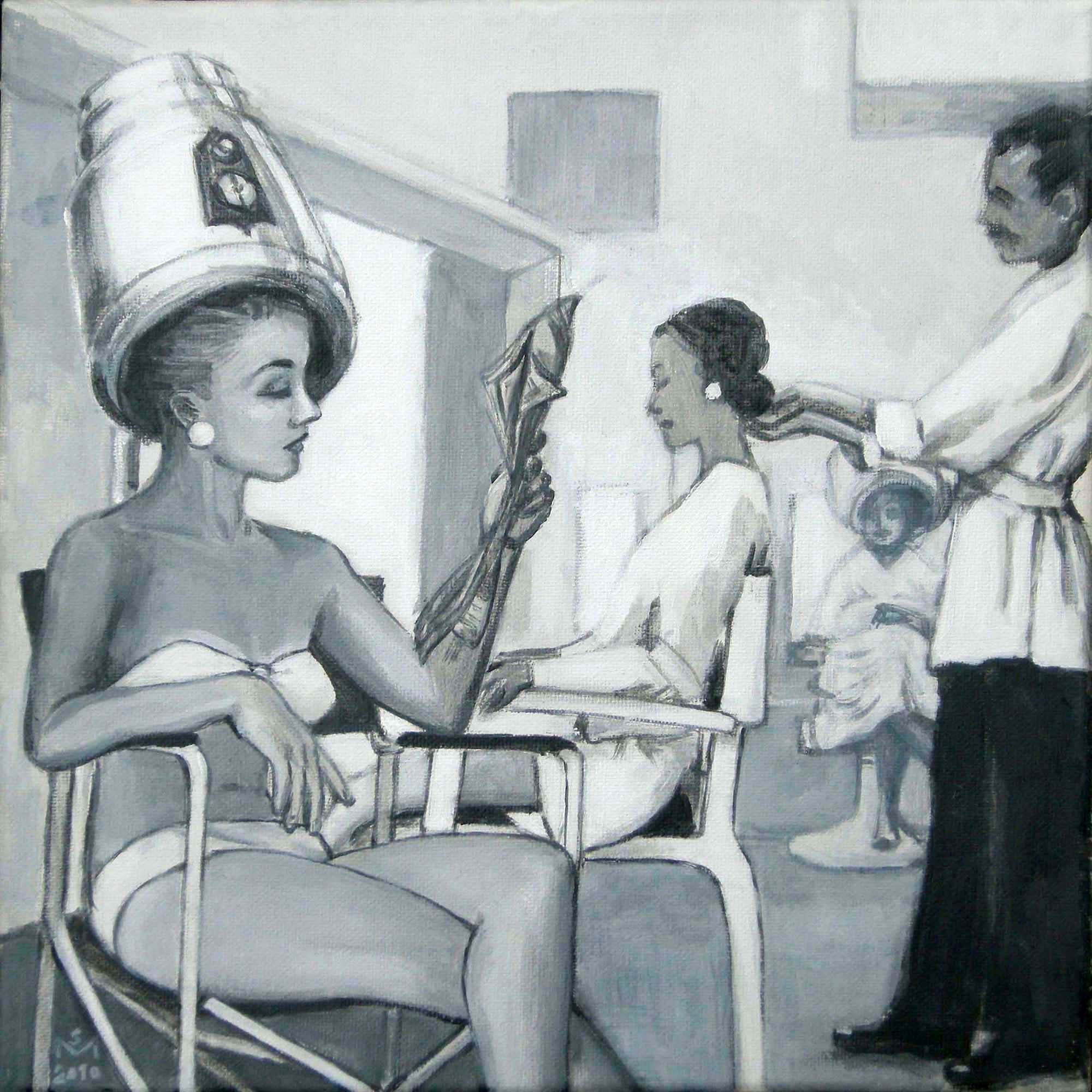 Woman wearing a bikini in a beauty salon | © Sarah Morrissette