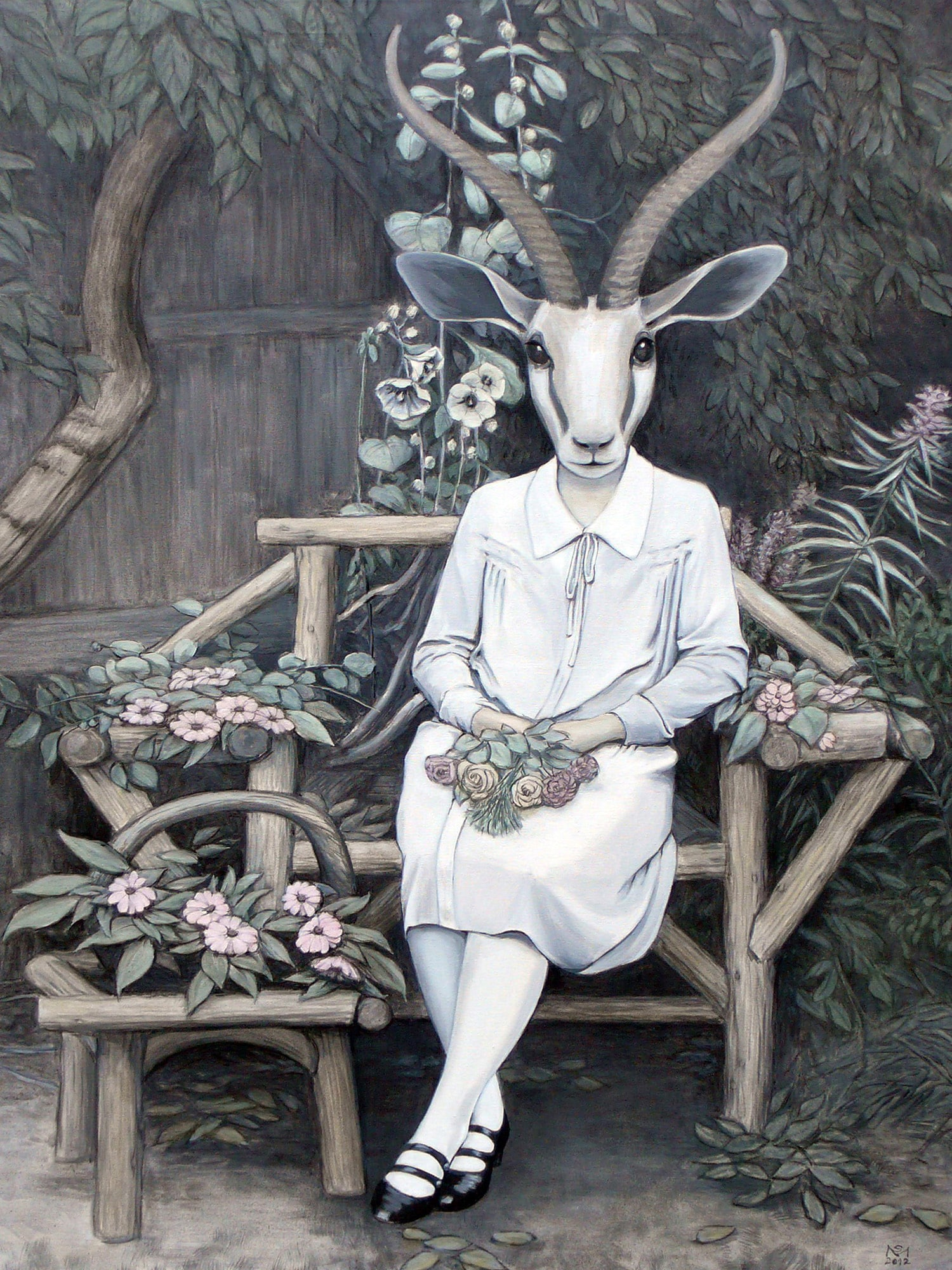Goat Bride on Bench | © Sarah Morrissette