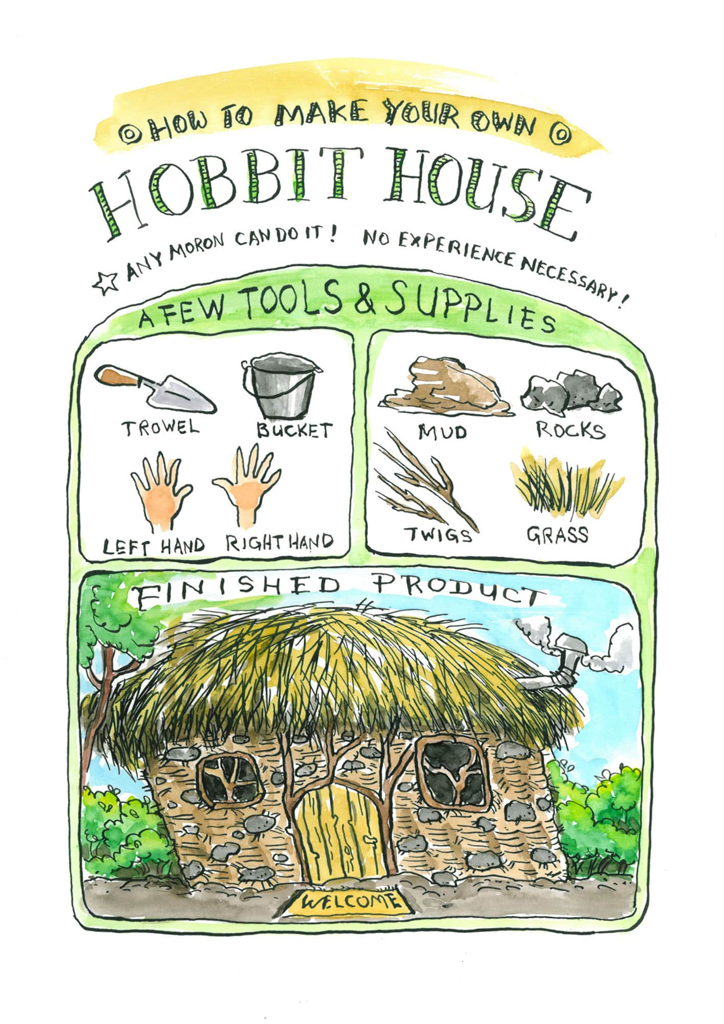 """How to make your own hobbit house"" 