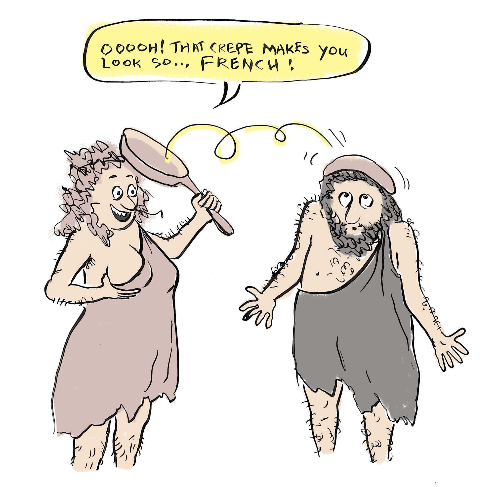 Caveman with crepe beret | © Sarah Morrissette