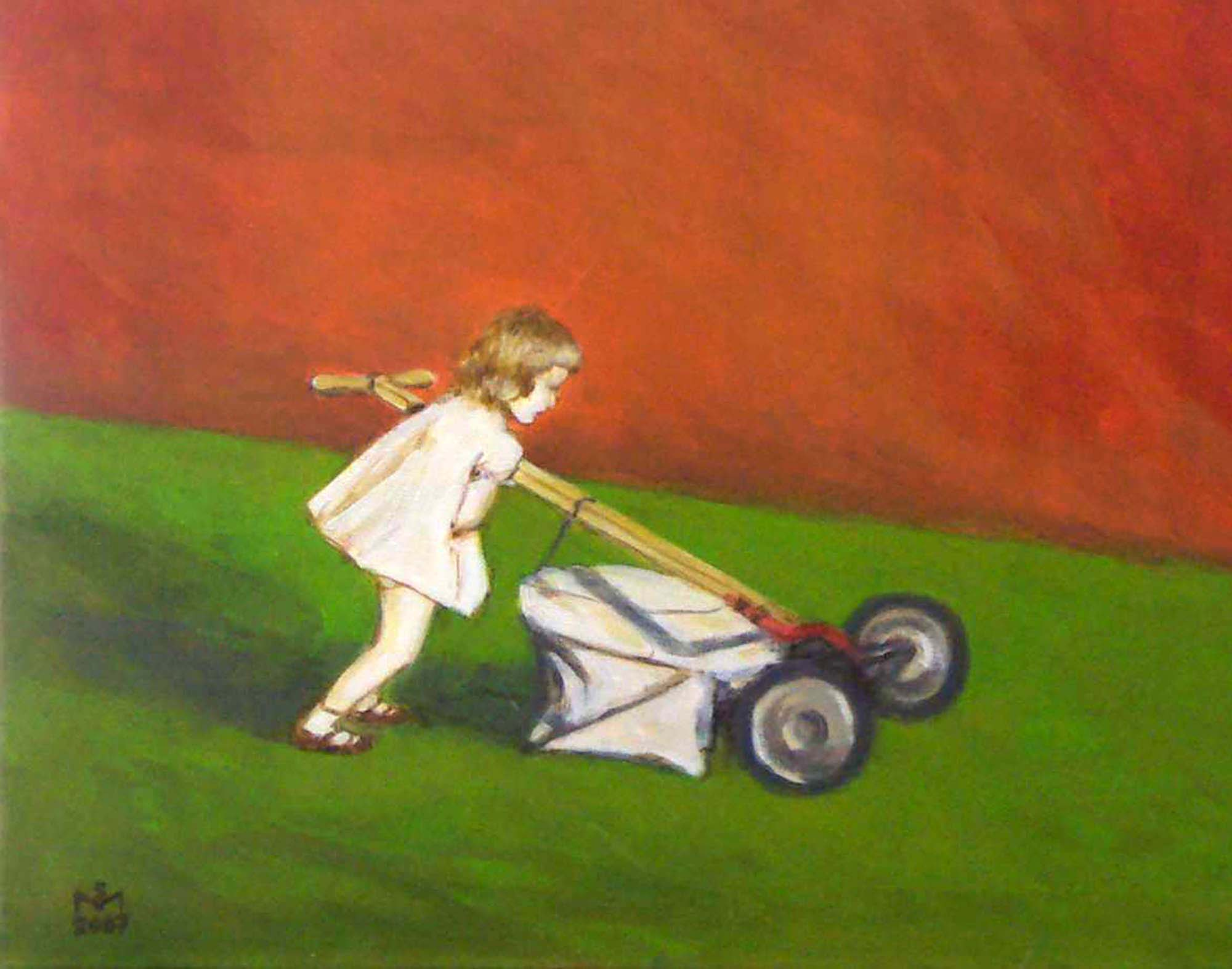 Little girl pushing lawnmower | © Sarah Morrissette