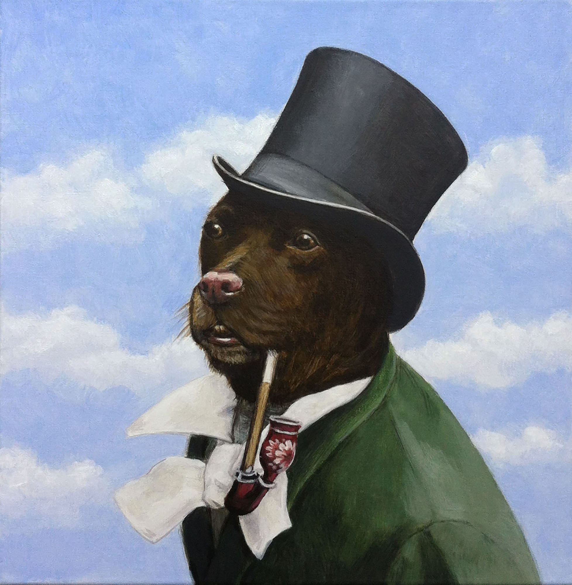 Dog with pipe and top hat | © Sarah Morrissette